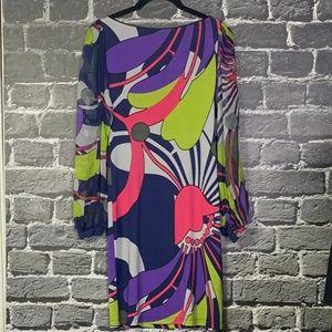 Analili Colorful Silk Dress STUNNING Sz XS